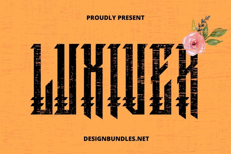 Web Font Luxiver Font example image 1