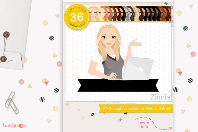 Business woman avatar, PNG clipart LVB96 Zinnia