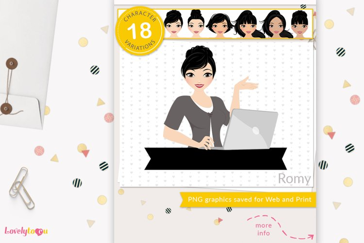 Business woman avatar, PNG clipart LVX25 Romy