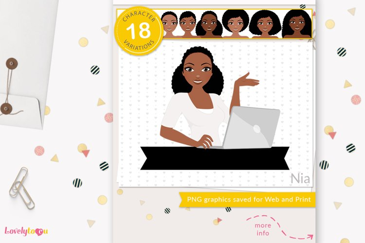 Business woman avatar, PNG clipart LVY45 Nia