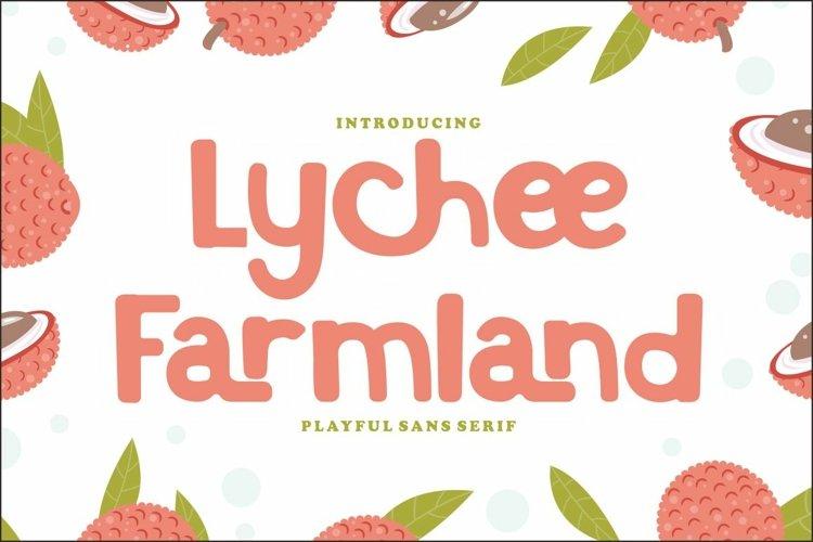 Lychee Farmland - Playful Sans Serif Font example image 1
