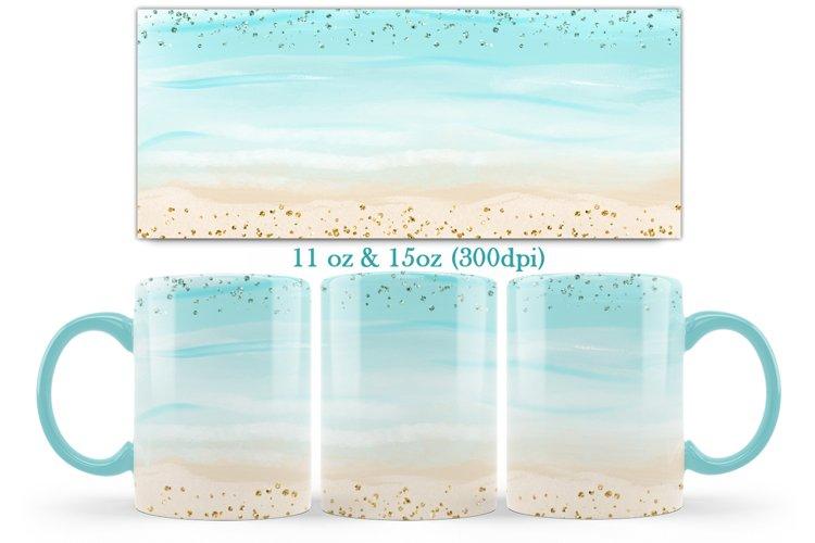 Beach Design Mug Sublimation-11oz & 15oz