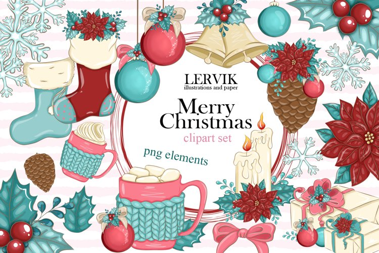 Merry Christmas CLIPART Holiday Planner PNG