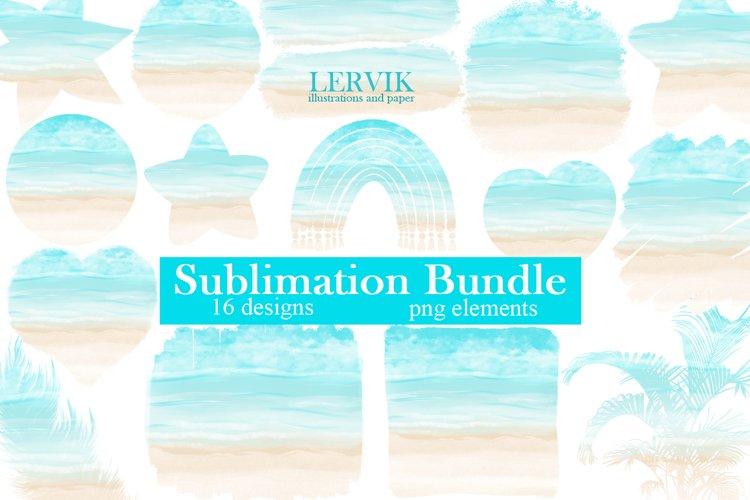 Beach Sublimation Bundle - 16 Designs clipart