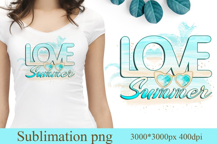 Summer sublimation designs, Hello Summer beach sublimation