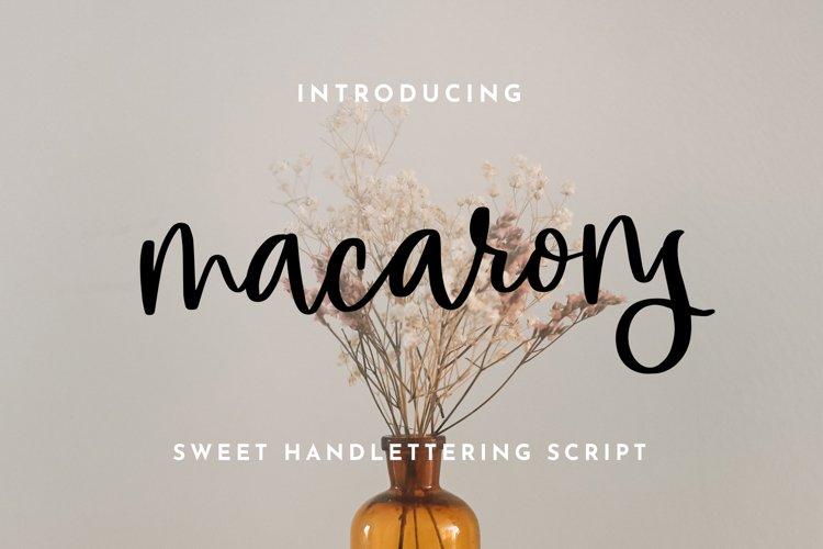 macarons - Sweet Handlettering Font example image 1