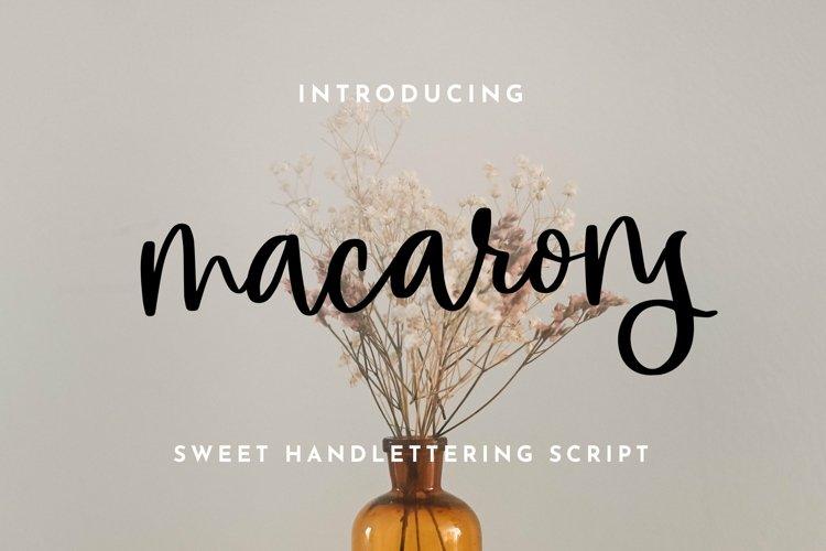 Web Font Macarons - Sweet Handlettering Font example image 1