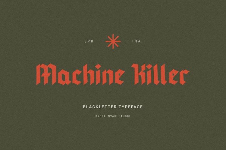 Machine Killer - Blackletter example image 1
