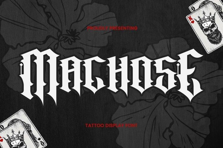 Web Font MachosE - Tattoo Font example image 1
