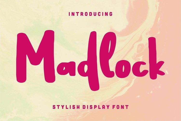 Web Font Madlock - Stylish Display Font example image 1