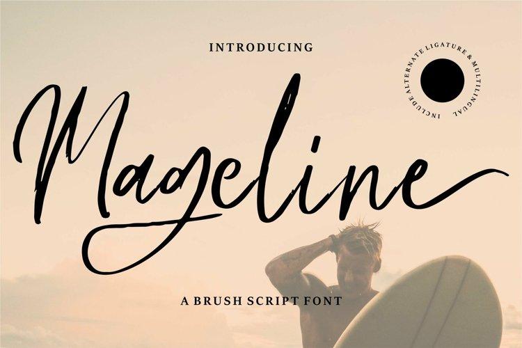 Web Font Mageline - A Brush Script Font example image 1