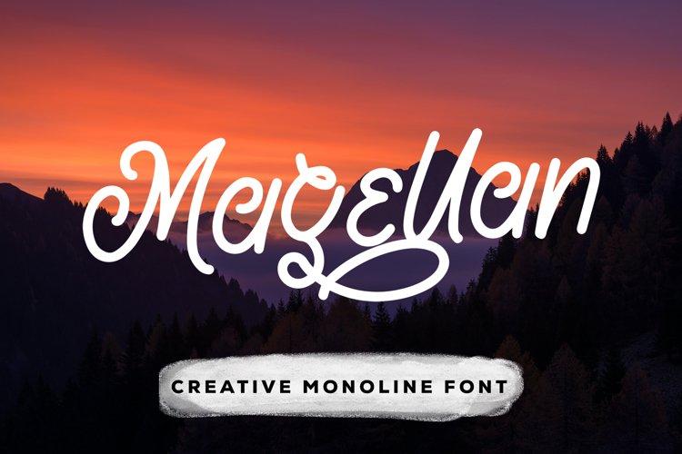 Magellan - Creative Monoline Font example image 1