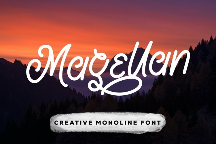 Web Font Magellan - Creative Monoline Font example image 1