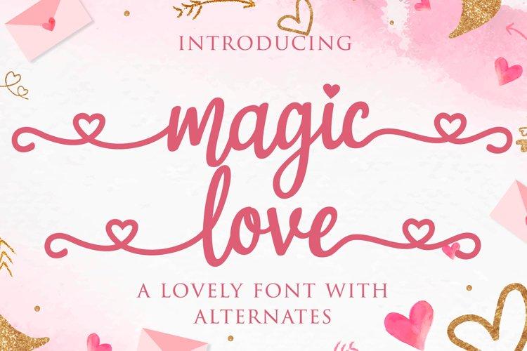 magic love - wedding font