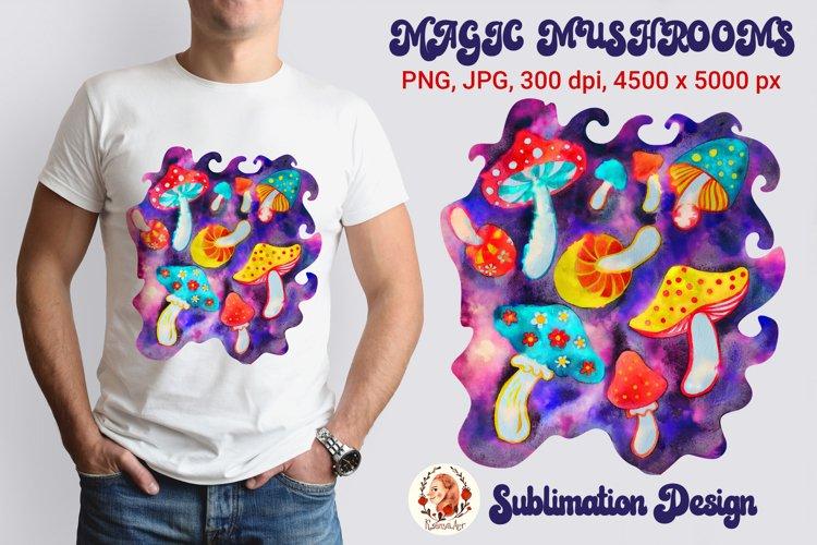 Magic Mushroom. Mushroom. Sublimation Design.