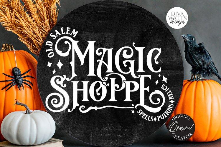 Old Salem Magic Shoppe SVG | Halloween Design example image 1