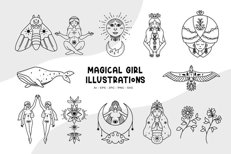Magical Girl Illustrations