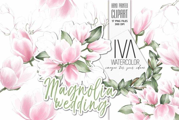 Magnolia Wedding Watercolor Clipart