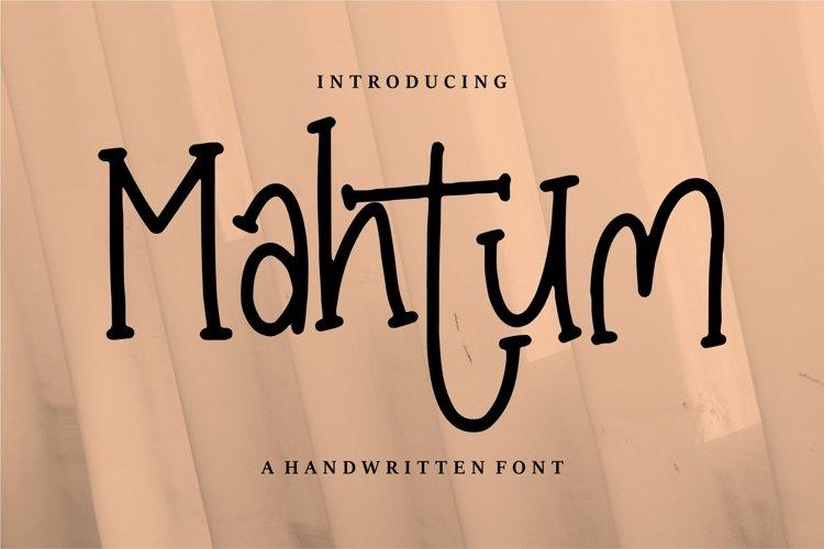 Mahtum - A Handwritten Font example image 1