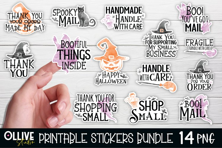Halloween Small Business Sticker Bundle PNG | Halloween PNG example image 1