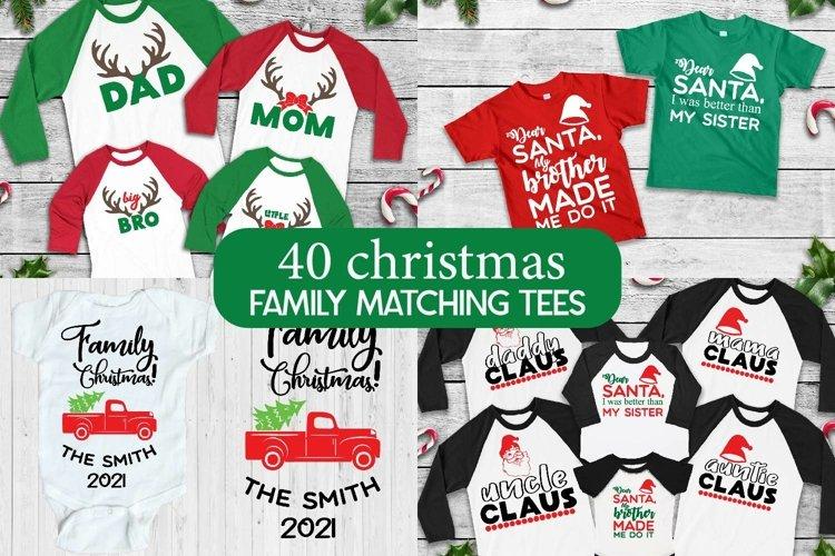 Christmas Family Matching tee svgs, Christmas svg bundle example image 1