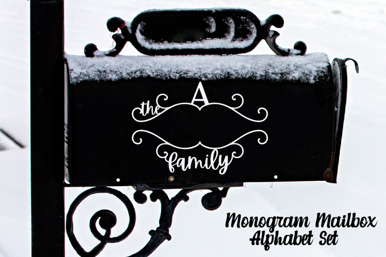 Monogram Family Alphabet Cutting File For Mailboxes