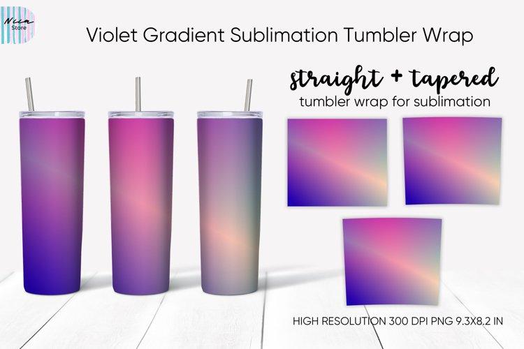 Violet Gradient Sublimation Skinny Tumbler Wrap Oz
