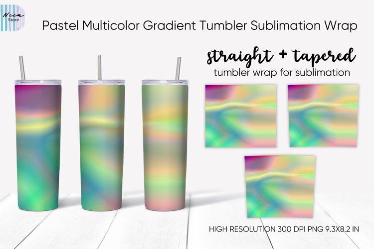 Pastel Multicolor Gradient Sublimation Skinny Tumbler Wrap