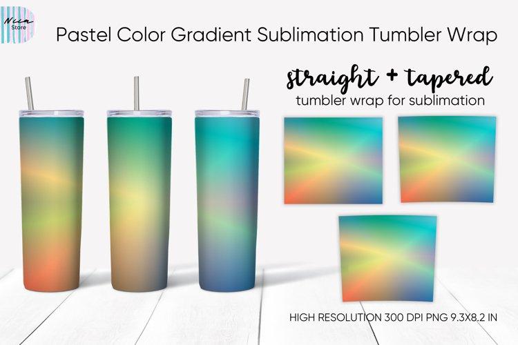 Pastel Color Gradient Sublimation Skinny Tumbler Wrap Oz
