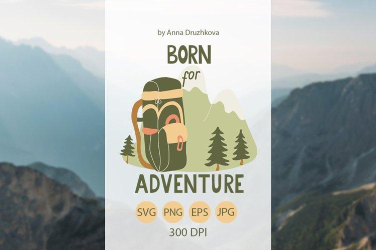 Born for adventure t-shirt design SVG