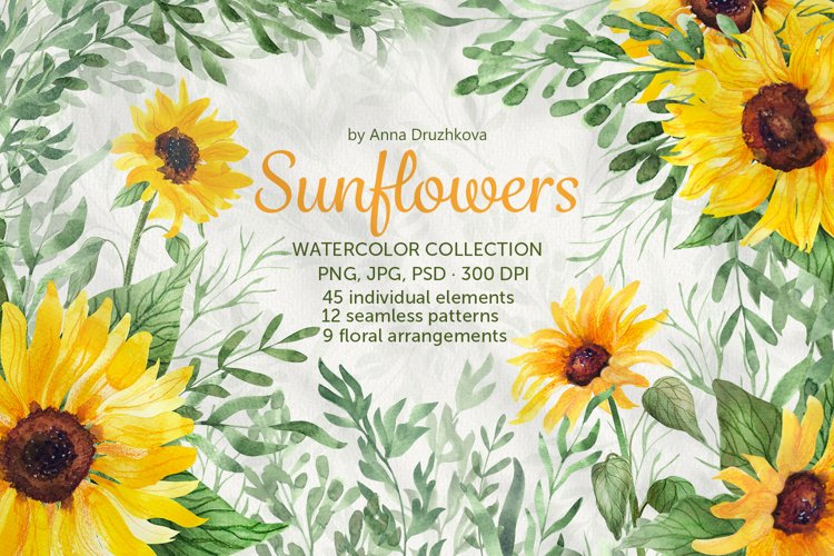Sunflowers Watercolor collection