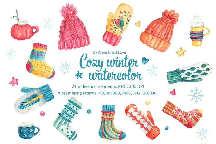 Cozy Winter Watercolor Clipart