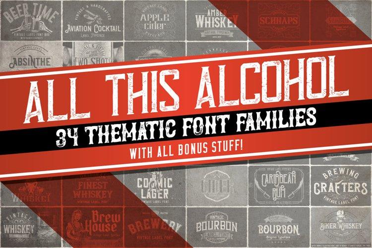 34 alcohol-themed fonts BUNDLE