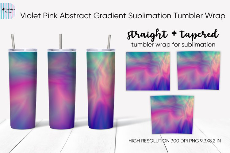 Violet Pink Abstract Gradient Sublimation Skinny Tumbler