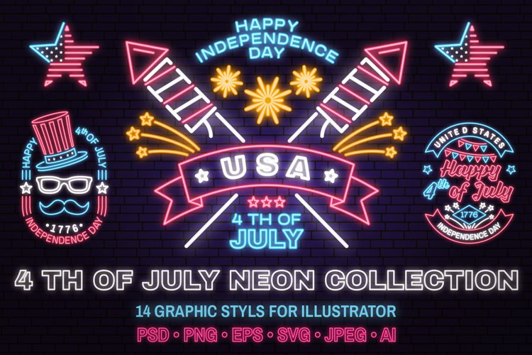 4th of July Neon Collection