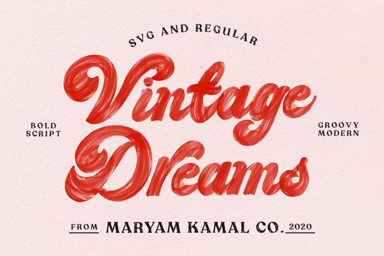 Vintage Dreams Modern Groovy Font