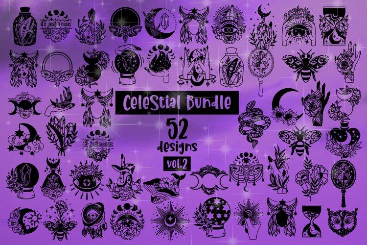Celestial Svg Bundle of 52 designs vol. 2 Witchy Celestial