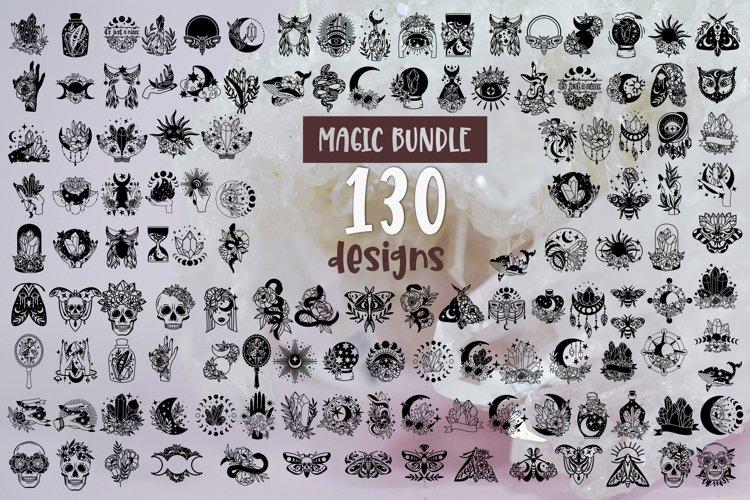 Magic Svg Bundle of 130 designs Magic Witchy Celestial