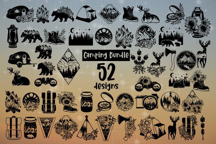 Camping Svg Bundle of 52 designs Camper CampLife