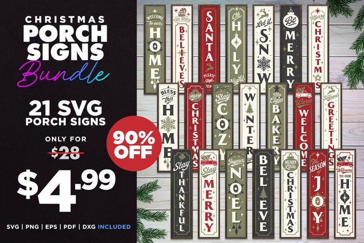 Mega Bundle   21 Porch SVG Signs   Vintage Vertical Designs