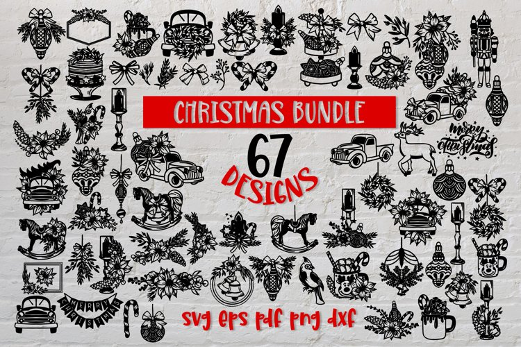 Christmas svg BUNDLE Set of 67 designs