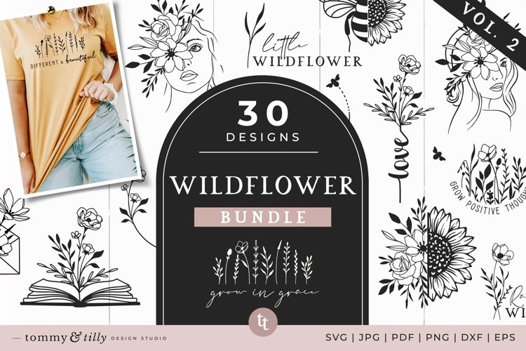 Wildflower SVG Bundle Vol. 2 30 Designs Cut Files
