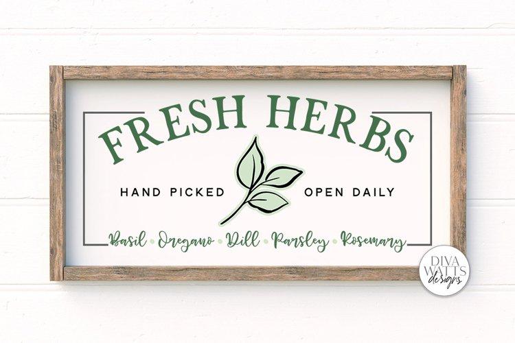 Fresh Herbs SVG | Farmhouse Garden Sign SVG example image 1