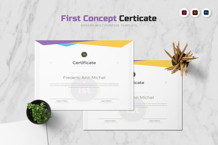 First Concept Certificate example image 1