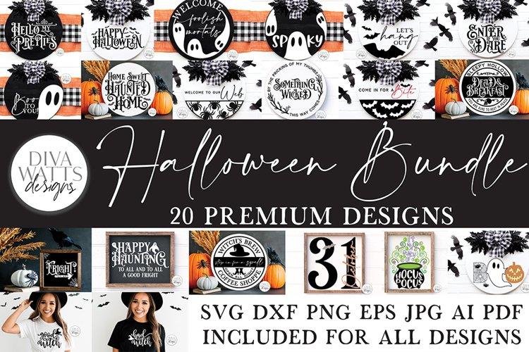 Halloween SVG Bundle of 20 Premium Designs   Sign Making SVG example image 1