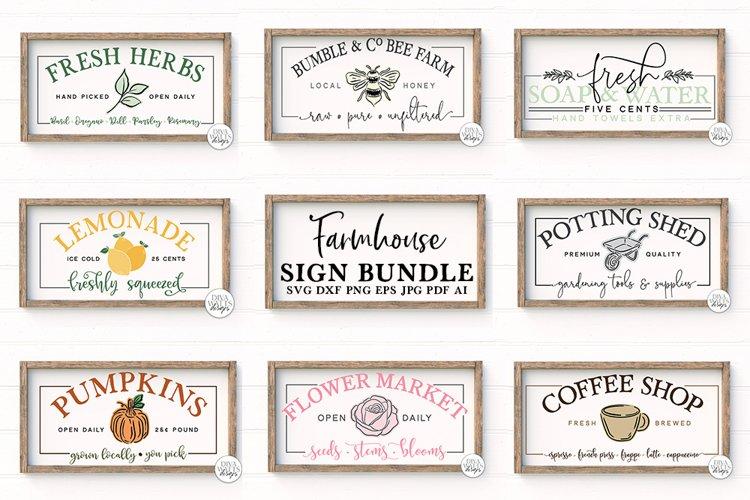 Farmhouse Sign Bundle - 8 Unique Designs! example image 1