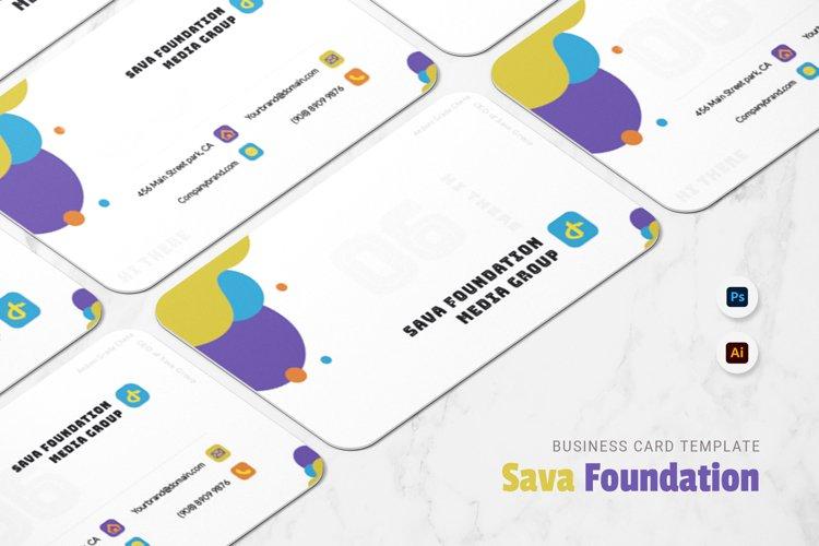 Sava Foundation Business Card example image 1