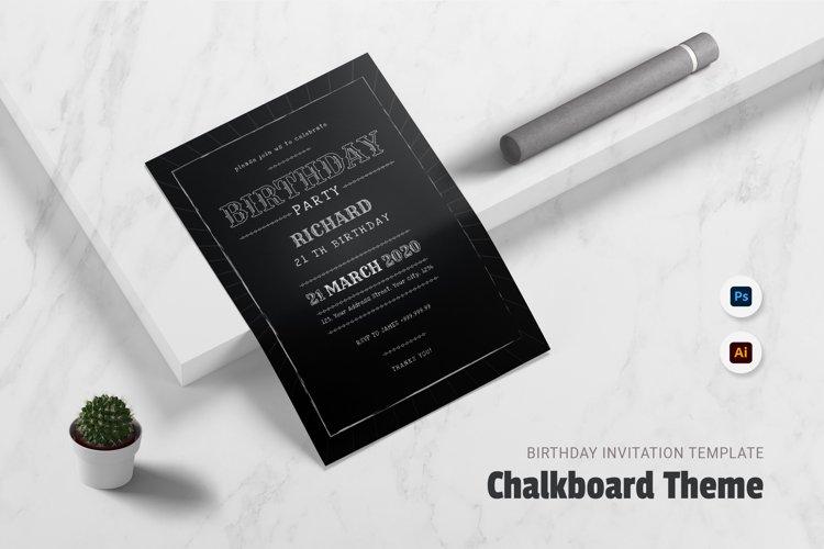 Chalkboard theme Birthday Invitation example image 1