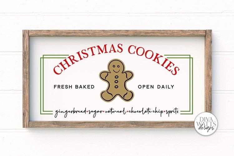 Christmas Cookies SVG   Christmas Sign Design   Farmhouse SV example image 1