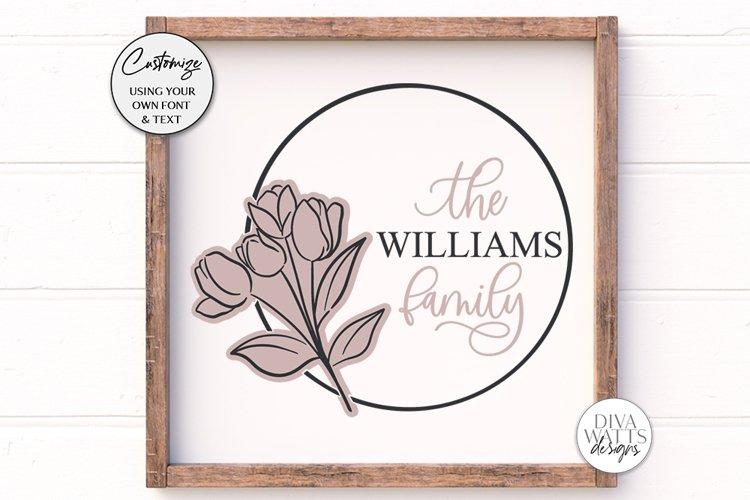 Tulip Monogram SVG | Family Monogram Sign Design example image 1